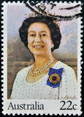 AUSTRALIA - CIRCA 1980: stamp printed in Australia shows Queen Elizabeth II, circa 1980 — Stock Photo
