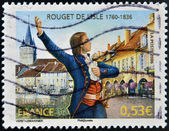 FRANCE - CIRCA 2006: A stamp printed in France shows Claude Joseph Rouget de Lisle, composer of the Marseillaise, the French national anthem, circa 2006 — Stock Photo