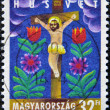 HUNGARY - CIRCA 2003: A stamp printed in Hungary shows Christ on the cross, circa 2003 — Stock Photo