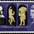 UNITED KINGDOM - CIRC1964: stamp printed in Great Britain dedicated to 400th anniversary of William Shakespeare, circ1964 — Foto de stock #19887721