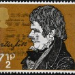 Stock Photo: UNITED KINGDOM - CIRC1971: stamp printed in Great Britain shows portrait of Sir Walter Scott (1771-1832), circ1971