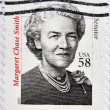 UNITED STATES OF AMERICA - CIRCA 2007: A stamp printed in USA shows Margaret Chase Smith, senator, circa 2007 — Stock Photo