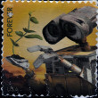 UNITED STATES OF AMERIC- CIRC2011: stamp printed in USshowing image of Wall-E movie, circ2011. — Stockfoto #19888671