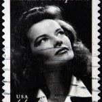 UNITED STATES OF AMERICA - CIRCA 2010: A stamp printed in USA shows Katharine Hepburn, circa 2010 — Stock Photo