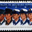 UNITED STATES OF AMERICA - CIRCA 1997: A stamp printed in USA shows Women in Military Service, circa 1997 - Stock Photo