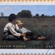 Stock Photo: UNITED STATES OF AMERIC- CIRC2010: stamp printed in USshows Boys in Pasture by Winslow Homer, circ2010