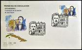SPAIN - CIRCA 1995: a stamp printed in Spain shows Jose Marti, circa 1995 — Stock Photo