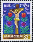 HUNGARY - CIRCA 2003: A stamp printed in Hungary shows Christ on the cross, circa 2003 — Zdjęcie stockowe