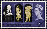 UNITED KINGDOM - CIRCA 1964: A stamp printed in Great Britain dedicated to the 400th anniversary of William Shakespeare, circa 1964 — Stock Photo