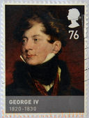 UNITED KINGDOM - CIRCA 2011: Stamp printed in Great Britain dedicated to Kings & Queens, House of Hannover, shows George IV (1820 - 1830), circa 2011 — Stock Photo