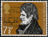 UNITED KINGDOM - CIRCA 1971: A stamp printed in Great Britain shows portrait of Sir Walter Scott (1771-1832), circa 1971 — Stock Photo