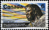 CANADA - CIRCA 1970: A stamp printed in Canada shows Henry Kelsey was an English fur trader, explorer and sailor, circa 1970 — Stock Photo