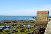 Krajobraz plaży la caleta na prowincji andaluzja w hiszpanii — Zdjęcie stockowe