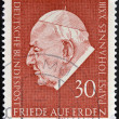 Foto Stock: GERMANY - CIRC1969: stamp printed in Germany shows Pope John XXIII, circ1969