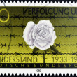 FEDERAL REPUBLIC OF GERMANY - CIRCA 1983: A stamp printed in the Federal Republic of Germany shows Rose and thorns, resistance (1933-1945),  circa 1983 - Photo