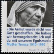 GERMANY - CIRCA 2010: A stamp printed in Germany shows mother Teresa, circa 2010 - Foto de Stock  