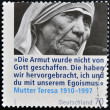 GERMANY - CIRCA 2010: A stamp printed in Germany shows mother Teresa, circa 2010 - Stock Photo