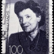 GERMANY - CIRCA 1991: A stamp printed in Germany, dedicated to the 100th anniversary of the birth Nelly Sachs, circa 1991 - Foto de Stock  