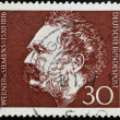 GERMANY - CIRCA 1966: A stamp printed in Germany shows Werner von Siemens, Electrical Engineer and Inventor, circa 1966 - Foto de Stock  