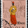 ANGOLA - CIRCA 1957: A stamp printed in Portugal dedicated to people of Angola, circa 1957 - Stockfoto