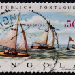 ANGOLA - CIRCA 1972: A stamp printed in Portuguese Republic shows sailing competition at the Olympics in Munich, circa 1972 - Stockfoto