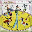 ARGENTINA - CIRCA 2004: stamps printed in Argentina dedicated to circus, circa 2004 - Stockfoto