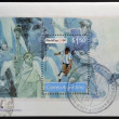Stock fotografie: ARGENTIN- CIRC1994: stamp printed in Argentindedicated to world cup football US1994, circ1994