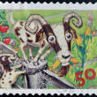 AUSTRALIA - CIRCA 2005: stamp printed in Australia shows Goats and rabbit, circa 2005  — Stock Photo