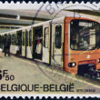 BELGIUM - CIRCA 1976: A stamp printed in Belgium shows a subway car, circa 1976 - Stock Photo