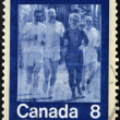 CANADA - CIRCA 1974: stamp printed in Canada shows runner, circa 1974 — Stock Photo