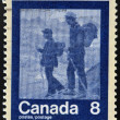 CANAD- CIRC1974: stamp printed in Canadshows mountaineering, circ1974 — Stock Photo #21237173