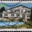 FRANCE - CIRCA 2003: A stamp printed in France shows Basque house in Paris, circa 2003 — Stock Photo #21237511