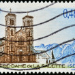 FRANCE - CIRCA 2002: A stamp printed in France shows Notre Dame de la Salette church, circa 2002  — Stock Photo
