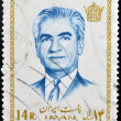 Stock Photo: IRAN - CIRC1972: stamp featuring Mohammad RezPahlavi, last Shah before 1979 Iranirevolution, circ1972