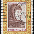ITALY - CIRCA 1974: A stamp printed in Italy shows Francesco Petrarca, circa 1974 — Stock Photo