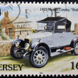 JERSEY - CIRCA 1992: A stamp printed in Jersey shows a car, 1925 Morris Cowley Bullnose, circa 1992 — Stock Photo