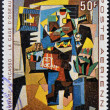 "MALI - CIRCA 1967: A stamp printed in Mali shows the work "" The bird cages"" by Pablo Picasso, circa 1967 — Stock Photo"