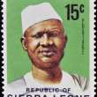ストック写真: SIERRLEONE - CIRC1971: stamp printed in SierrLeone shows SiakStevens, circ1971.