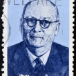 SOUTH AFRICA - CIRCA 1974: A stamp printed in South Africa issued for the birth centenary of Daniel Francois Malan shows a portait of prime minister Daniel Francois Malan, circa 1974. — Stock Photo