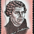 SOUTH AFRIC- CIRC1967: stamp printed in RSshows image of Martin Luther, circ1967 — Foto de stock #21238215