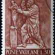 VATICAN - CIRC1966: stamp printed in Vaticshows Bas reliefs of arts and crafts, sculptor, circ1966 — Stock Photo #21238501