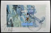 ARGENTINA - CIRCA 1994: A stamp printed in Argentina dedicated to world cup football USA 1994, circa 1994 — Zdjęcie stockowe