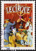 FRANCE - CIRCA 2002: A stamp printed in France dedicated to circus, circa 2002 — Stock Photo