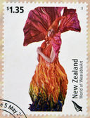 NEW ZEALAND - CIRCA 2004: Stamps printed in New Zealand dedicated to World of WearableArt shows Meridian by Rowan McLennan, circa 2004 — Stock Photo