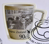 NEW ZEALAND - CIRCA 2005: Stamp printed in New Zealand dedicated to Cafe Culture, 1940s, circa 2005 — Stock Photo