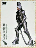 NEW ZEALAND - CIRCA 2004: Stamps printed in New Zealand dedicated to World of WearableArt shows Persephone's Descent by Stuart Johnson, circa 2004 — Stock Photo