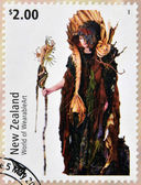 NEW ZEALAND - CIRCA 2004: Stamps printed in New Zealand dedicated to World of WearableArt shows Cailleach Na Mara (Sea Witch) by Jan Kerr , circa 2004 — Stock Photo