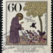 GERMANY - CIRCA 1989: A stamp printed in Germany shows St. Francis of Assisi, circa 1989 - Stock Photo