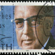 GERMANY- CIRCA 1997: stamp printed in Germany shows Thomas Dehler, Politician, circa 1997. - Stok fotoğraf