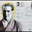 Stock Photo: ARGENTIN- CIRC1998: stamp printed in Argentinshowing universal poet Federico GarciLorca, circ1998